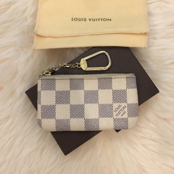 5abecd51ea3 Louis Vuitton Handbags - Louis Vuitton Damier Azur Chain Key Holder Pouch